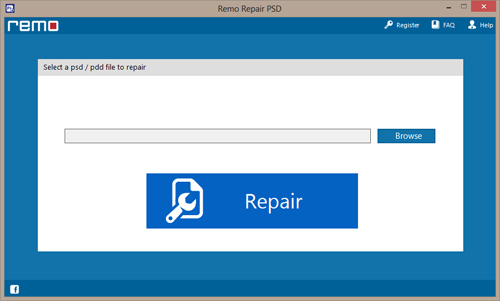 PSD File Repair - Main Screen
