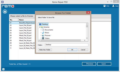 PSD File Repair - Save